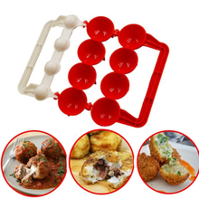 button maker badge maker button making machine new 58mm mold one set 1pcs New Meatball Maker Mold Making Fish Meat Ball Maker Christmas Kitchen Self Stuffing Food Cooking Ball Machine Kitchen Tools
