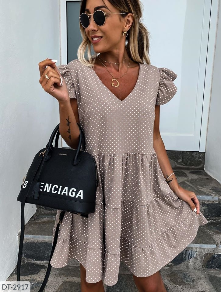 YUNZE 2020 Women New Summer Sundress Casual Ruffles Sleeves V-neck Dot Boho Party Vestidos Elegant Mini Dresses Fashion Vestidos