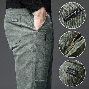 Мужские брюки в стиле милитари, черные брюки для офиса, большие размеры, зима 2019