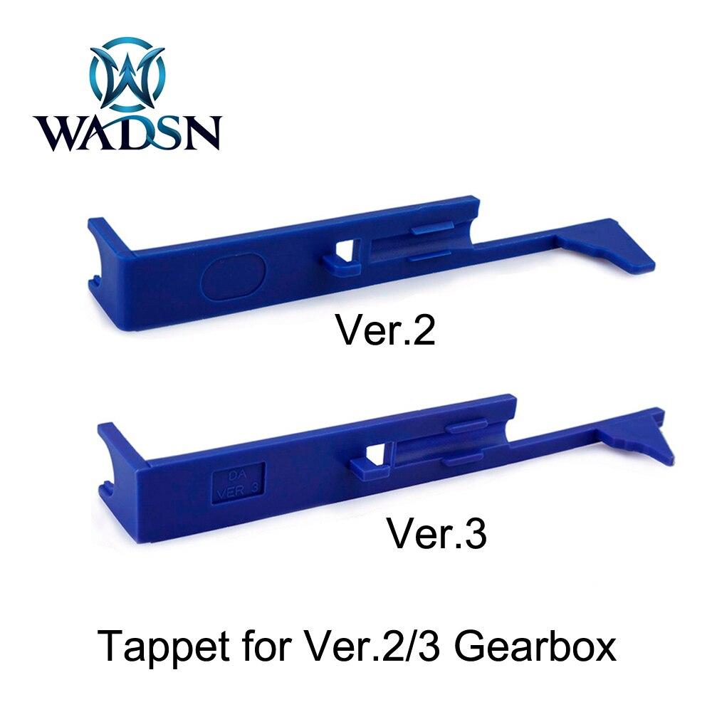 WADSN-placa de plástico para AEG versión 2 / 3 M4 MP5 AK G36, caja de cambios, accesorios de Paintball, 5 piezas/ranura, Airsoft Tappet