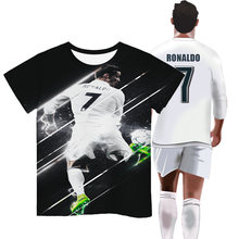 Children's short sleeve t shirt cristiano ronaldo 3d printed