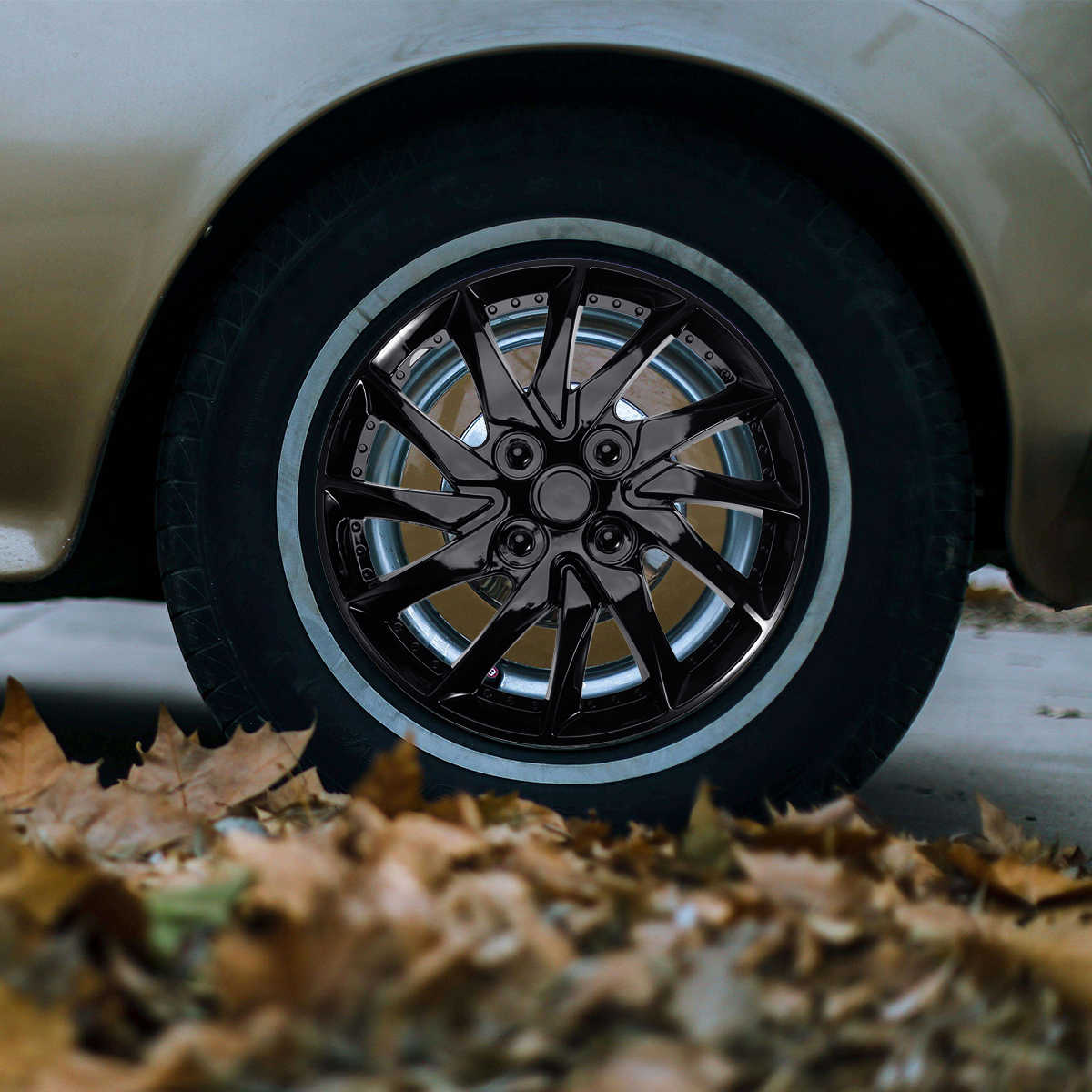 Since 4 Piezas 68 mm Cubiertas de Cubo de Rueda Cubierta Central Accesorios para autom/óviles Auto Continental dise/ñado Jeep