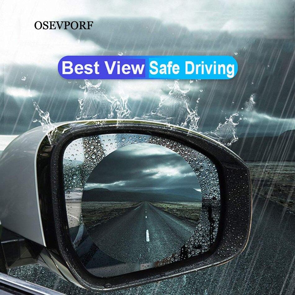 2Pcs HD 0.15mm Car Rearview Mirror Window Clear Film Anti Fog Window Foils Rainproof Protective Waterproof Car Sticker Membrane
