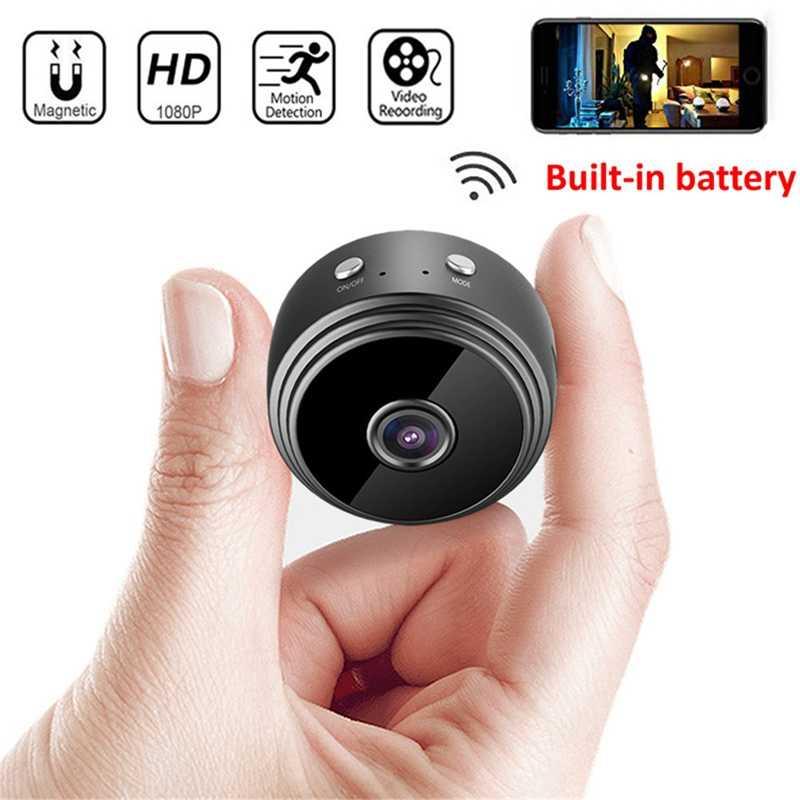 Bán Lẻ A9 Mini Máy Ảnh Máy Quay Tròn HD 1080P Nhìn Đêm Wifi Ip Từ Xa Điều Khiển Lực Hút Video-Đầu Ghi Hình thể Thao DV Brack