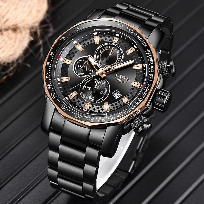Relogio Masculino 2019 Neue Uhr Männer LIGE Herren Uhren Top Brand Luxus Männlichen Sport Quarz Uhr Military Wasserdichte Chronograph