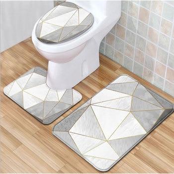 Cubierta de Inodoro para asientos, cubierta de asiento de Inodoro, felpudo para el suelo antideslizante, alfombrilla de baño, decoración de inodoros, accesorios de baño