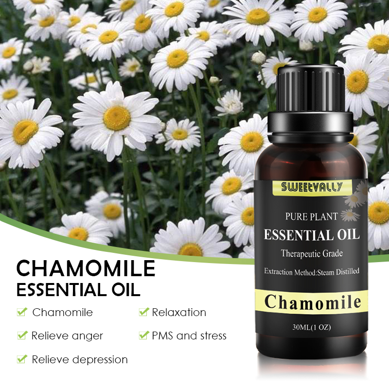 30ML Chamomile Essential Oil Pure Natural 10ML Pure Essential Oils Aromatherapy Diffusers Oil Healthy Skin Hair Air Fresh