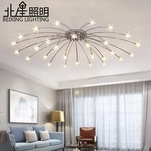 현대 K9 크리스탈 LED 플러시 마운트 천장 샹들리에 조명기구 골드 블랙 홈 램프 거실 침실 주방