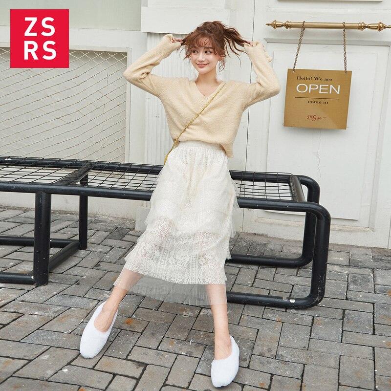 Юбка торт Zsrs 2019, юбка средней длины, юбка в форме феи, юбка с высокой талией, многослойная эластичная талия, простая Студенческая юбка торт