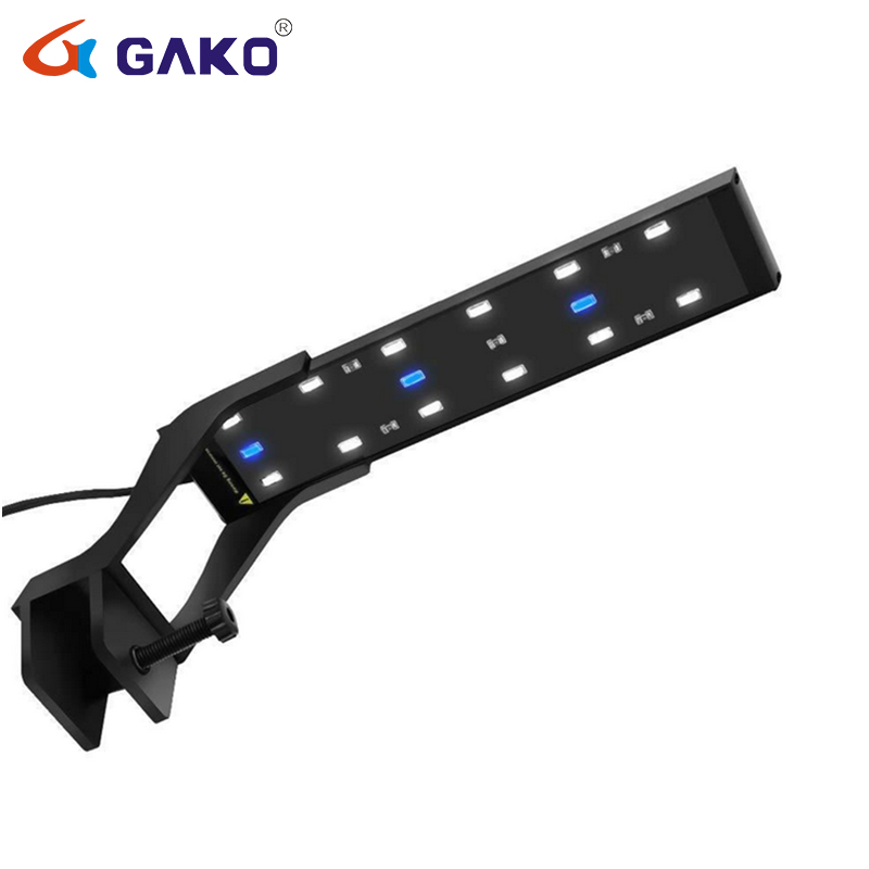 6W Ultra-thin Metal SMD Clip Light Aquarium LED Lamp Fish Tank With Extendable Bracket