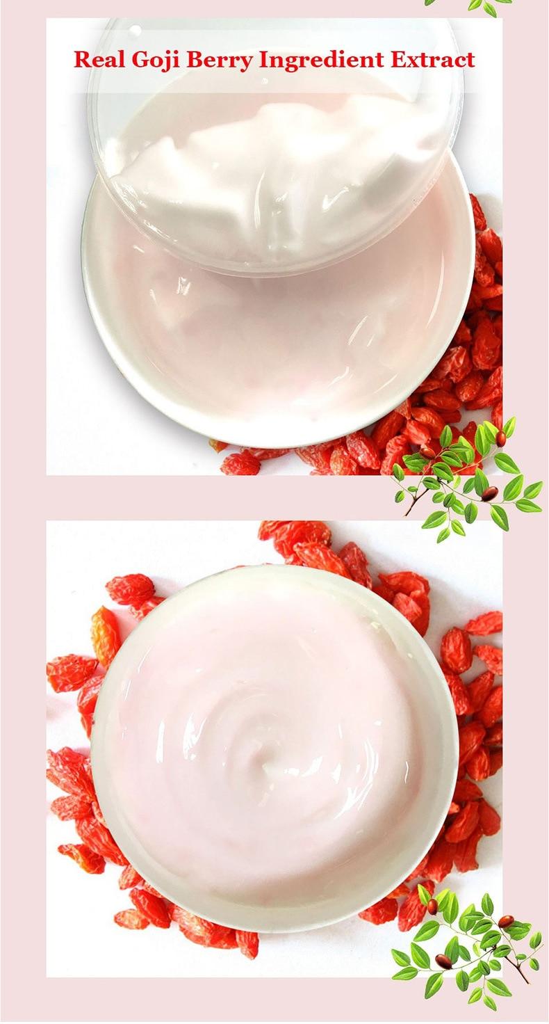Goji Berry Facial Cream With Hyaluronic Acid Paraben Free Fragrance Anti-oxidation Anti-aging Skin Firming Face Whitening