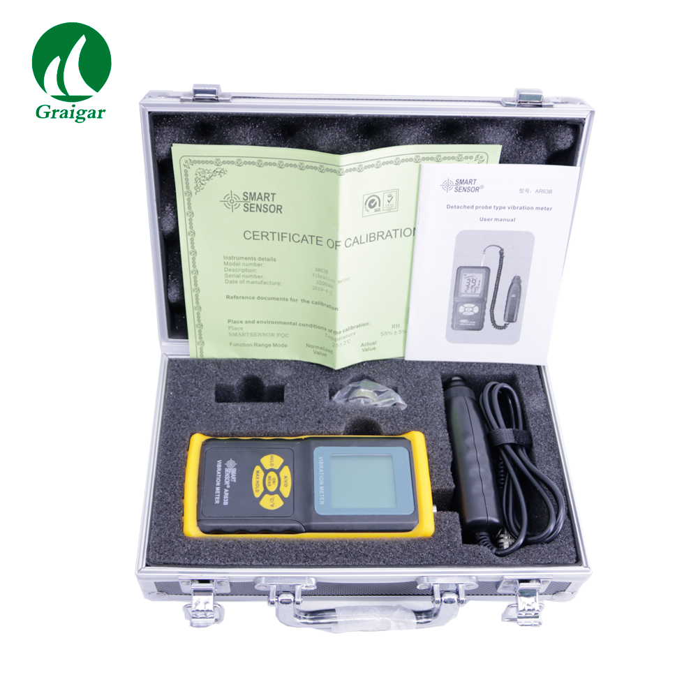 Smart Sensor High Accuracy Digital Vibration Meter AR63B Vibrometer Tester 0.1~199.9m/s|Hardness Testers| |  - title=