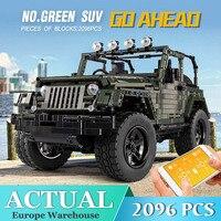 Technic Adventurer Car Remote Control Jeeped Wrangler Truck Building Blocks Bricks Set Kid Boy Toy Gifts