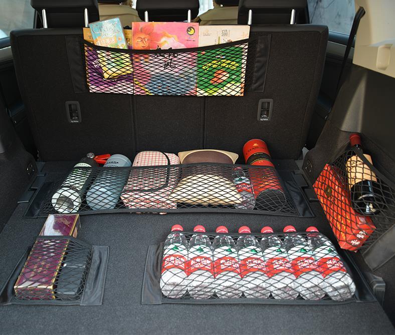 Универсальный органайзер для багажника задний багажник на заднее сиденье грузовой сетчатый мешок Гибкий Нейлоновый автомобильный чехол д... title=
