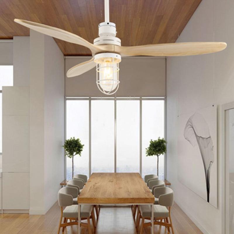 led e27 Loft Iron Wood Glass Ceiling Fan LED Lamp.LED Light.Ceiling Lights.LED Ceiling Light.Ceiling Lamp For Foyer|Pendant Lights| |  - title=