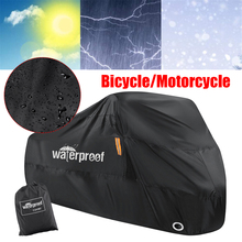 210T Waterproof Motorcycle Cover Dustproof Rain Snow UV Protector Cover For Motor Scooter Covers Outdoor Motorbike Bicycle Cover