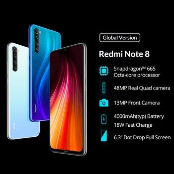 "Global ROM Xiaomi Redmi Note 8 4GB 64GB 48MP Quad Cameras Smartphone Snapdragon 665 Octa Core 6.3"" FHD Screen 4000mAh 1"