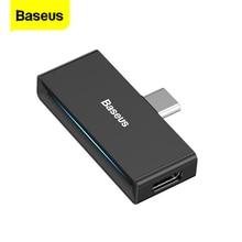 Baseus usbタイプcに3.5ミリメートルジャックヘッドフォン、aux otgアダプタhuawei社P30 xiaomiサムスン注10プラスUSB C高速充電スプリッタ