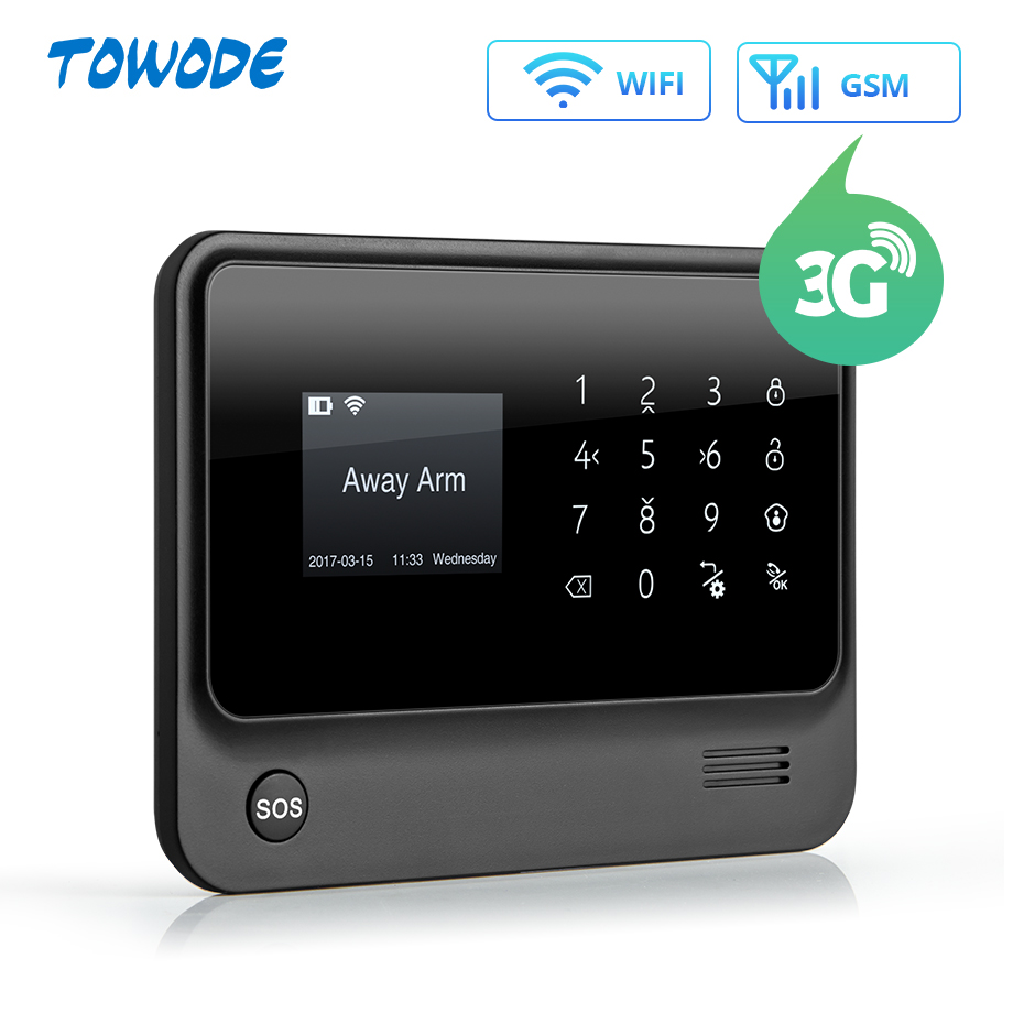 Towode G90B GSM WIFI Remote Control Smart Home Security with Workable with RFID Wireless Keypad 1