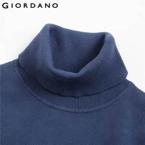 Image 4 - Giordano мужской джемпер с круглым высоким воротом,из натурального хлопка.