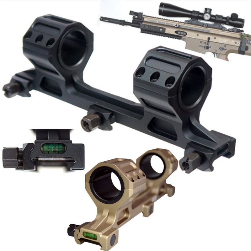 Tactical Gun AR15 Rifle Scope Mount 25.4mm 30mm Bubble Level Softair Airsoft 20mm Weaver Picatinny Rail Hunting Accessories image