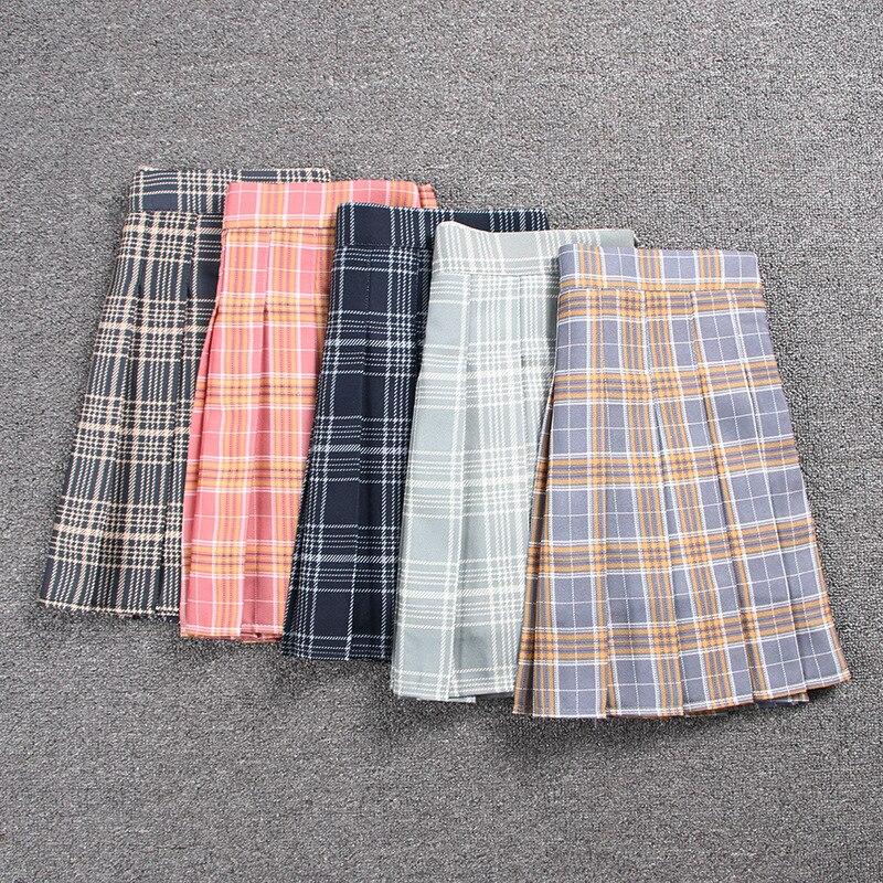 School Dresses Sailor Suit Plain Pleated Skirt Short Skirt For Girls Jk Uniforms Cosplay College Middle School Uniform Costume