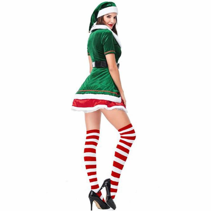 noel traje crianças adultos família verde elf