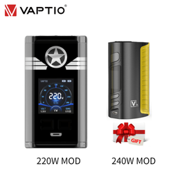 【Gift 240W mod】vape mod Vaptio Captn 220W 1.3inch TFT screen box mod 18650 battery 0.005s fire speed vapour cigarette 510thread