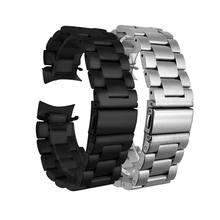 Pulseira de aço inox para samsung galaxy watch, pulseira de relógio para samsung galaxy 46mm SM-R800 gear s3, pulseira de substituição + ferramentas