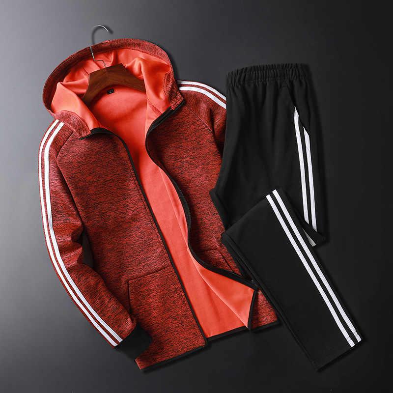 Nuevo traje deportivo conjunto deportivo para hombres chándales sueltos para hombre de alta calidad para el invierno Fitness gimnasio trajes calientes para correr ejercicio correr