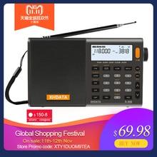 XHDATA D 808 Portable Numérique Radio FM stéréo/SW/MW/LW SSB AIR RDS Multi Bande Radio Haut Parleur avec Écran lcd Réveil