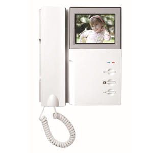 CUSAM Doorbell Indoor-Monitor with Handset Phone-System Video-Intercom LCD Audio Two-Way