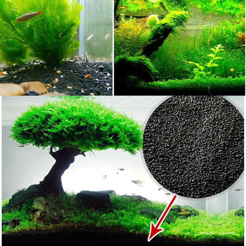 Water Plant Grass Soil Aquarium Substrate Fish Tank Plant Growth Fertility Substrate Soil For Aquarium Grass Lawn Decoration
