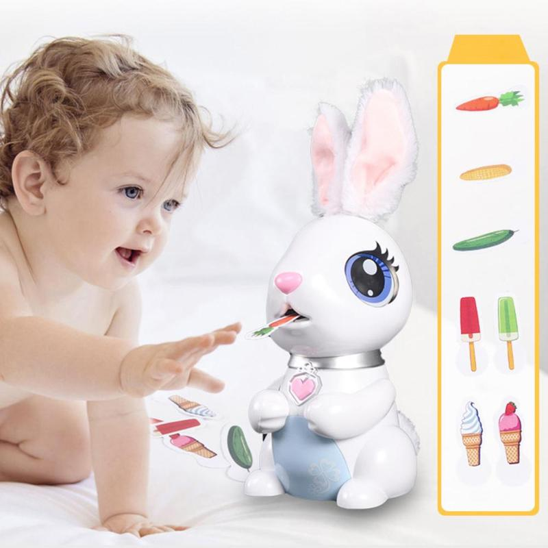 Robot Toy For Kids Intelligent Electric Toys Singing Feeding Music Storytelling Rabbit Robot For Children Early Educational Toys