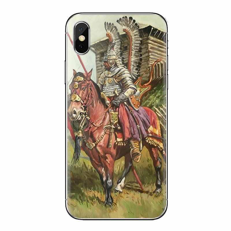 Tampas Do Telefone de Silicone Rei da Polônia Winged Hussar Grand Duke Para iPod Touch Da Apple iPhone 4 4S 5 5S SE 5C 7 6 6S 8 X XR XS Mais MAX