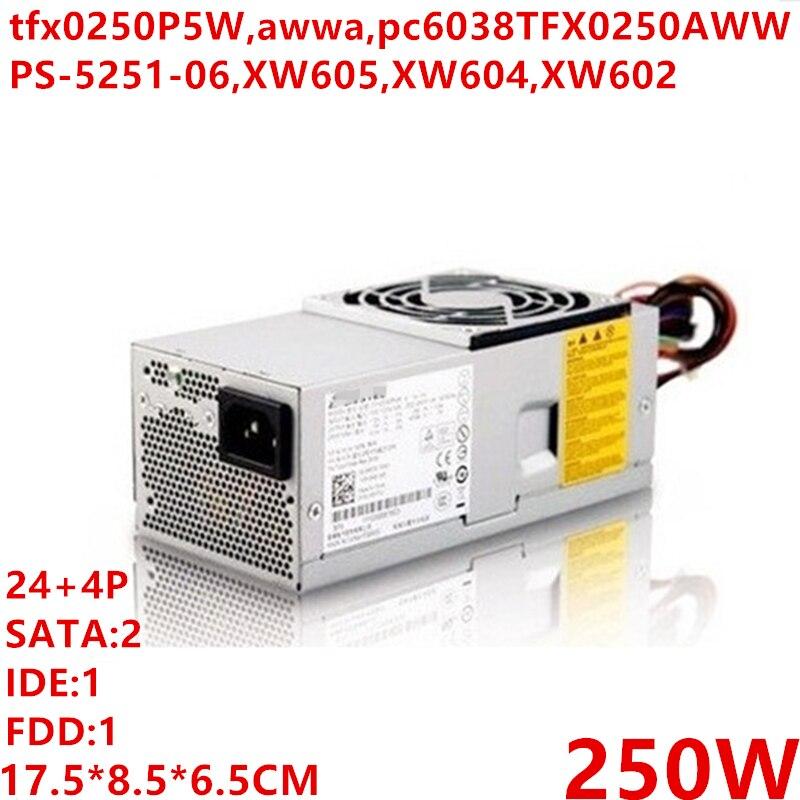 Nouveau BLOC D'ALIMENTATION Pour Dell V200 220S 230 260 620 I530 531 545 546S XW605/604/602 Alimentation tfx0250P5W pc6038 TFX0250AWWA PS-5251-06