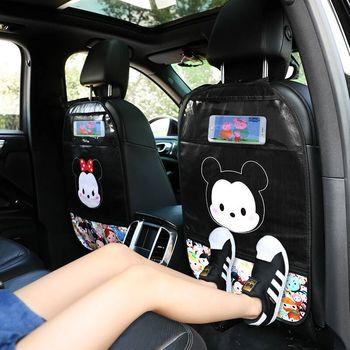 1Pcs Cartoon Car Seat Kid Protector PU Leather Cute Car Seat Back Cover Protector for Kids Children Anti-kick Mat Pad Waterproof