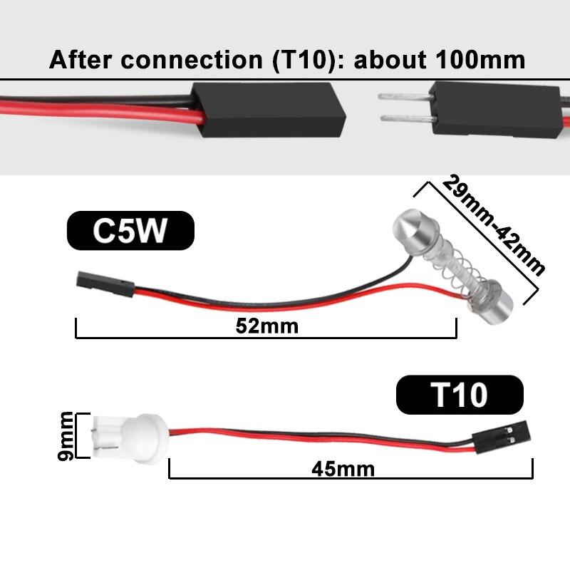 1x C5W C10W LED COB Bulb Festoon...
