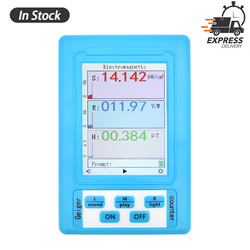 BR-9A Handheld Digital Tester Electromagnetic Radiation Detector High Accuracy Professional Semi-functional Type EMF Meter