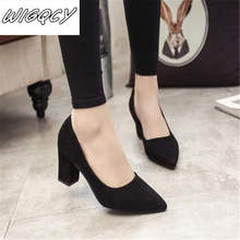 2019 spring and autumn new fashion pointed shallow mouth women's shoes ladies wi