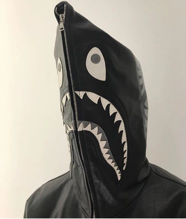 Japanese-style Popular Brand Shark Head Coat 2017 New Style Teenager Men And Women Zipper Hooded Cool Fashion Leather Jacket