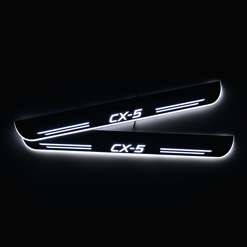 LED Door Sill For <font><b>Mazda</b></font> <font><b>CX</b></font>-<font><b>5</b></font> CX5 <font><b>2015</b></font> <font><b>2016</b></font> <font><b>2017</b></font> 2018 Door Scuff Plate Pathway Welcome Light Car Accessories image