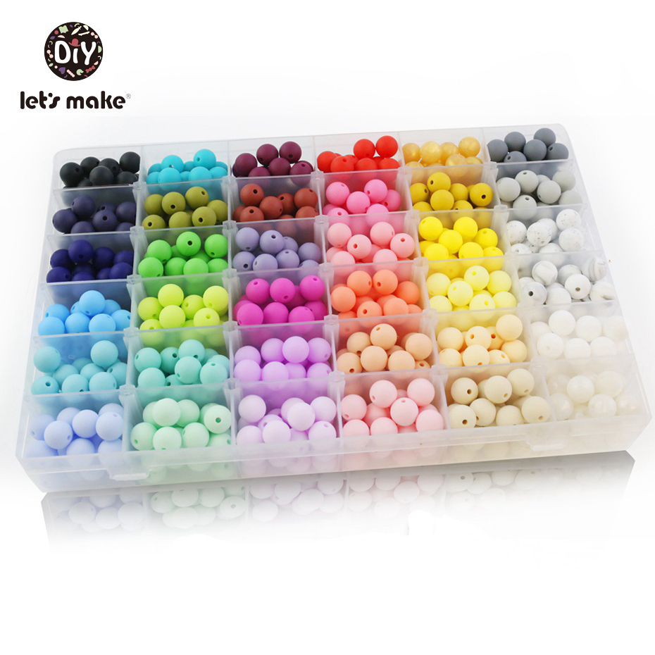 Let's Make 10pcs Silicone Beads 15mm Silicone Beads BPA Free Baby Teether Round Beads Food Grade Beads DIY Beads