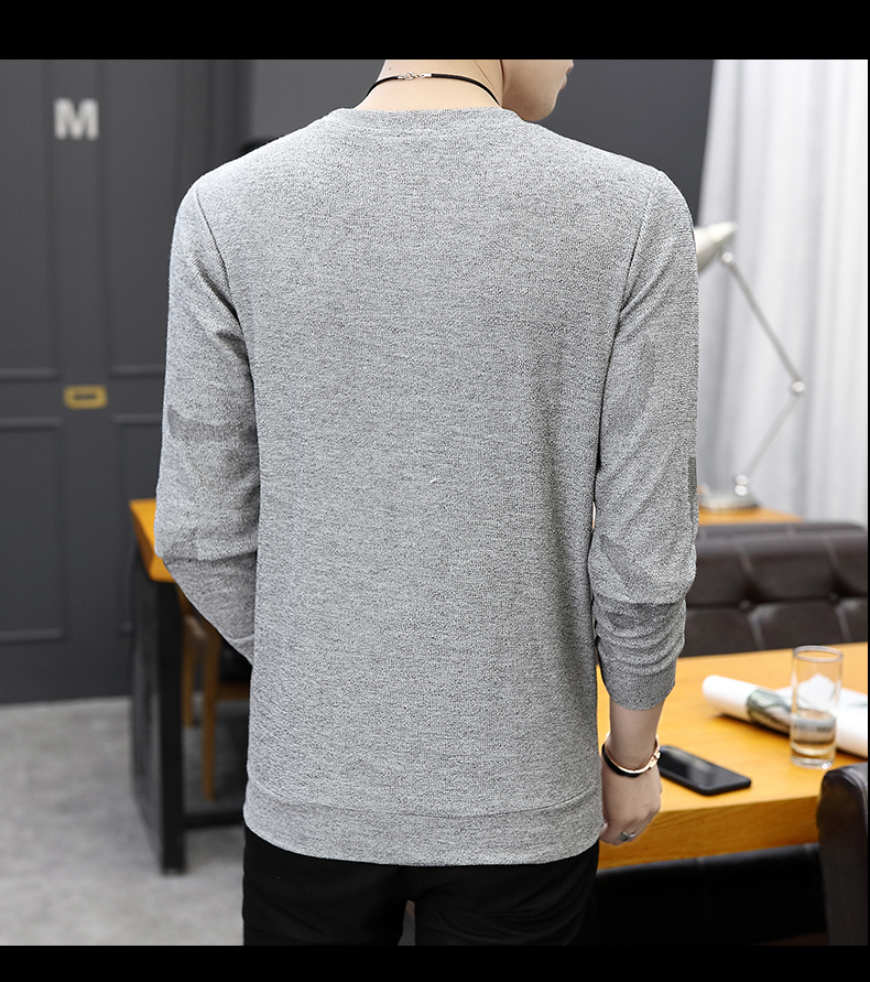 H82398f5431204af4a26c8abc09045055P CO 2019 men long sleeve printed fleece New age season round collar fleece youth trend