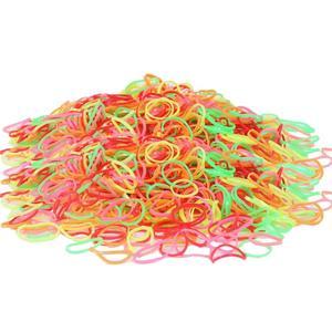 Image 4 - 200/1000PCS น่ารักเด็กผู้หญิงที่มีสีสันแหวนทิ้งผมยืดผมผู้ถือหางม้ายาง Band Scrunchies เด็กอุปกรณ์เสริมผม