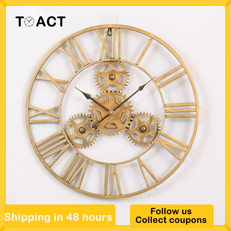 Special Offers Vintage Rustic Big Wall Clock List And Get Free Shipping A608