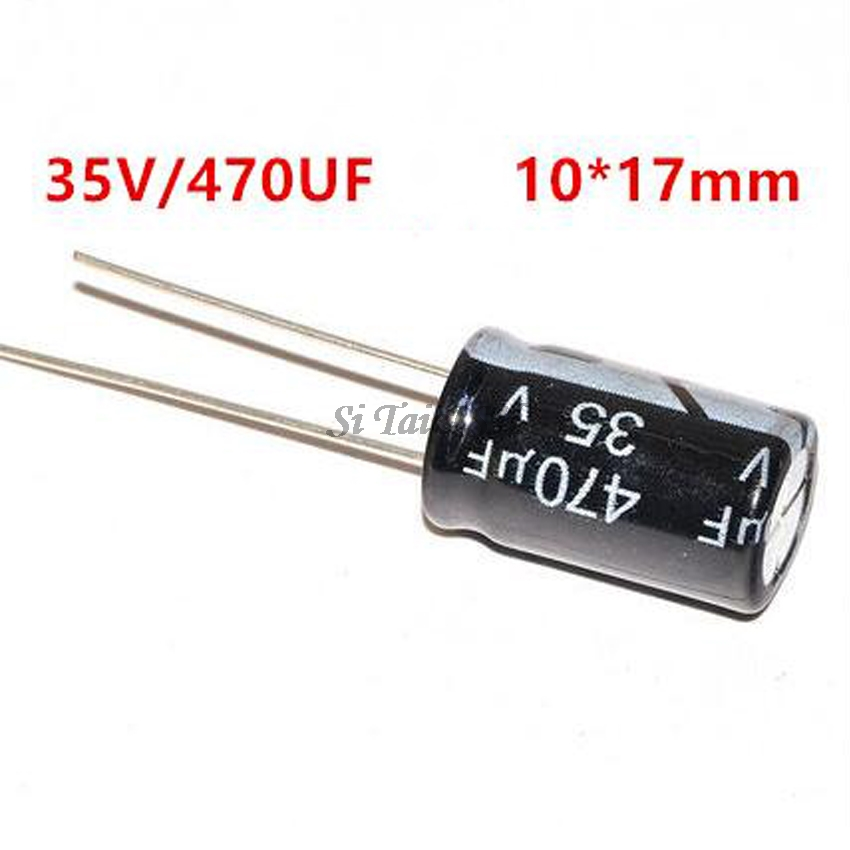 10PCS Higt Quality 35V470UF 10*17mm 470UF 35V 10*17 Electrolytic Capacitor