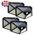 1/2/4 шт. Светильник солнечной энергии 100 светодиодный настенный светильник на солнечных батареях PIR датчик движения водонепроницаемый свети...