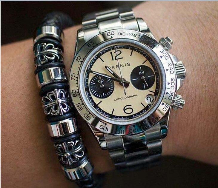 Sapphire Crystal 39mm PARNIS Japanese Quartz Movement Men's Watch Multi-function Quartz Watches 5Bar Pa18-p8