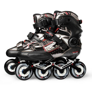 Image 2 - 2020 Original SEBA KSJ Shadow Professional Slalom Inline Skates Carbon Fiber Roller Skating Shoes Sliding Free Skating Patines